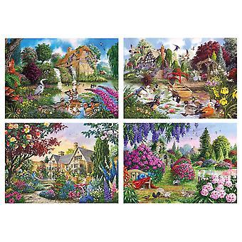 ギブソンの植物相・動物相のジグソー パズル (4 × 500 個入り)