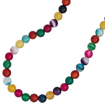 Children's gemstone necklace with agates colorful 38 cm endless necklace necklace on rubber