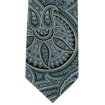 Michelsons London überdimensioniert Paisley Polyester Krawatte - Grün