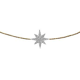 Choker Stella 18K Goud en Diamanten, op Thread - Wit Goud, Champagne