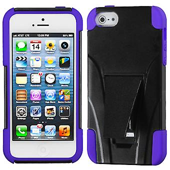 Asmyna Inverse Advanced Armor Stand Case for Apple iPhone 5/5S - Purple/Black