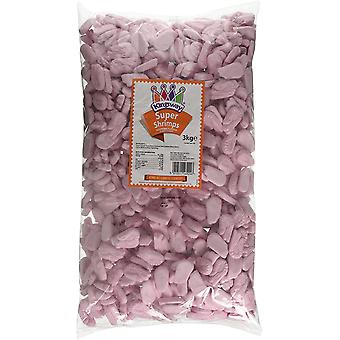 Kingsway Super Shrimps Raspberry flavour Foam Candy 3kg