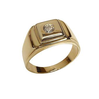 Cachet ring with diamond
