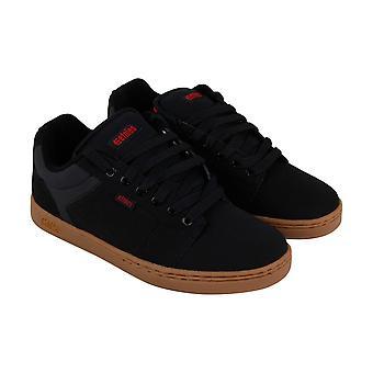 Etnies Barge Xl  Mens Black Nubuck Leather Athletic Skate Shoes