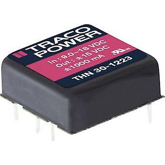TracoPower THN 30-1212 DC/DC ממיר (הדפסה) 12 V DC 12 V DC 2500 mA 30 W לא. של תפוקות: 1 x