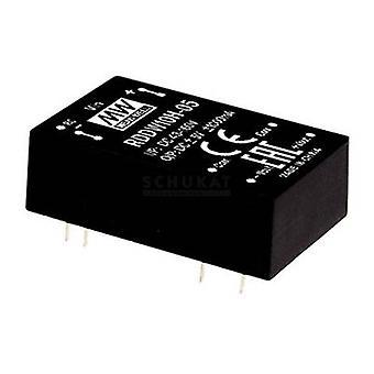 Pozo medio RDDW10H-12 Convertidor CC/CC 416 mA 10 W No. de salidas: 2 x