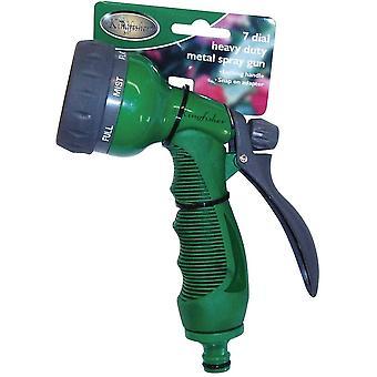 Kingfisher 6127D Deluxe 7 Dial Spray Gun Garden Watering