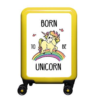myTrolley Born To Be Unicorn S, 4 rollen, 55 cm, 32 L, Geel