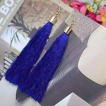 Boucles d'oreilles en fil de soie sassy balançant