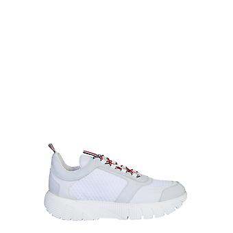 Thom Browne Mfd139a03193100 Heren's Witte Nylon Sneakers