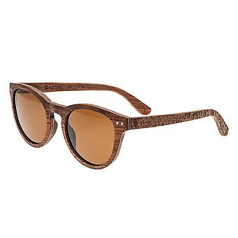 Earth Wood Copacabana Polarized Sunglasses - Red Rosewood/Brown