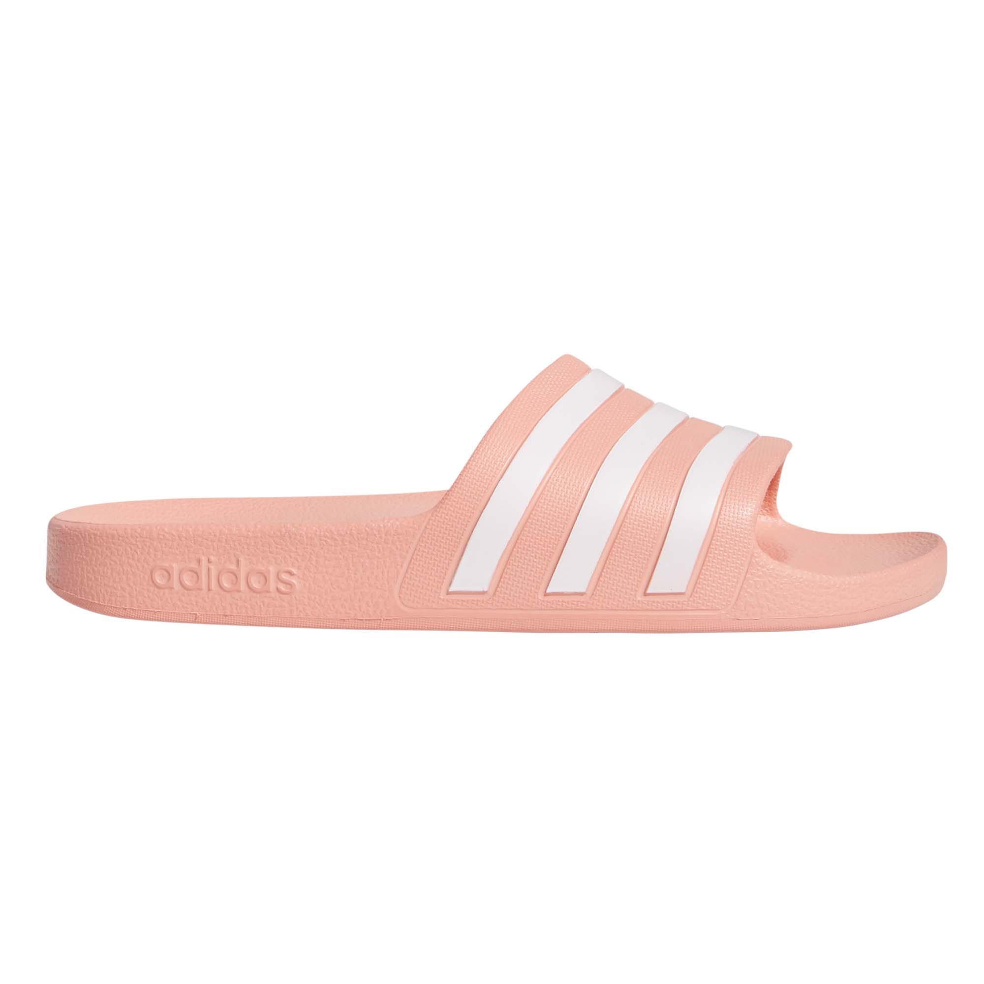 adidas Adilette Aqua Womens Pool Flip Flop Slide Sandal Pink/White VHfsj