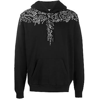 Marcelo Burlon Cmbb007e20fle031001 Men's Black Cotton Sweatshirt
