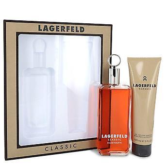 Lagerfeld Gift Set By Karl Lagerfeld 5 oz Eau De Toilette pray + 5 oz Shower Gel