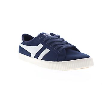 Gola Tennis Mark Cox  Mens Blue Canvas Lace Up Lifestyle Sneakers Shoes