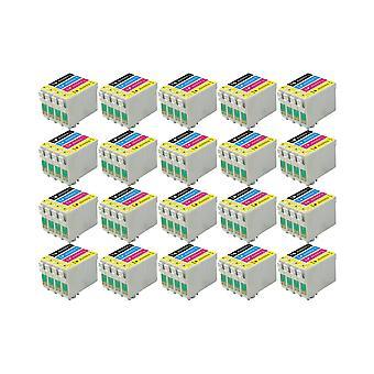 RudyTwos 20x ersättare för Epson Fox bläck enhet svart cyan gul & magenta (4-pack) kompatibel med s22, SX125, SX130 IS, SX230, SX235W, SX420W, SX425W, SX430W, SX435W, SX438W, SX440W, SX445W, SX445WE,