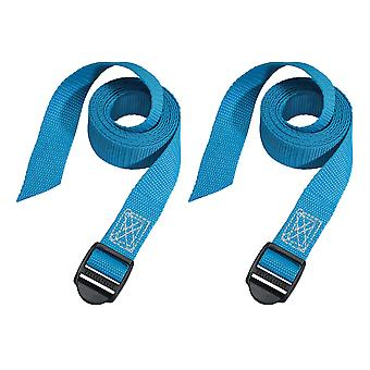 Master Lock Lashing Straps with Plastic Buckle 1.2m 2 Piece MLK3004ECOL