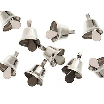 100 Silver 10mm Liberty Jingle Bells for Crafts