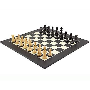 Oud Engels Elite Ebony en Black Luxury Chess set