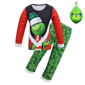 Christmas Grinch Pajamas And Mask
