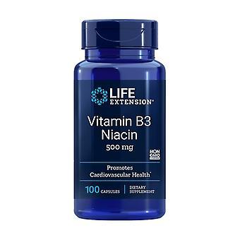 Vitamine B3 500 mg 100 capsules
