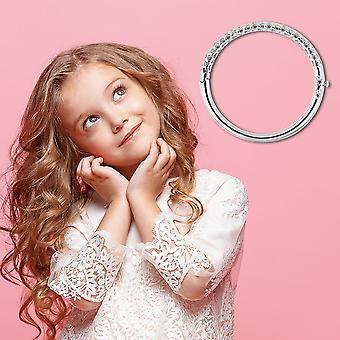 "TJC Allegro Bangle for Kids Sterling Silver Size 4.95"""
