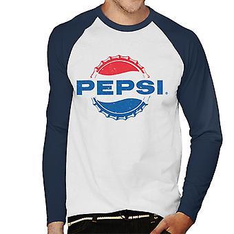 Pepsi 1960s licht verdrietig Bottlecap mannen honkbal lange mouwen T-shirt