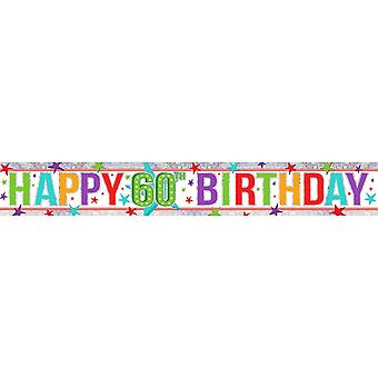 Amscan Happy 60th Birthday Holographic Foil Banner