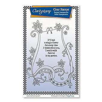 Claritystamp Si tuviera una flor A6 Clear Stamps