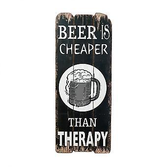 Rebecca meubles plaque signe murale en bois marron blanc bière rustique chambre cuisine