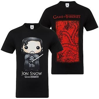 Game of Thrones Officiële Gift Mens T-shirt Lannister Stark Targaryen Jon Snow