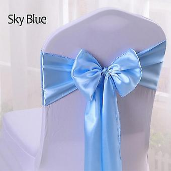 Satin Sashes- Bow Knot Design For Chair Cover Decoration