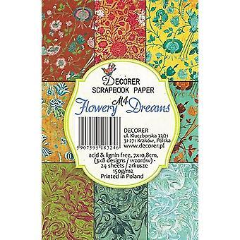 Decorer Flowery Dreams Paper Pack (7x10.8cm) (M4)
