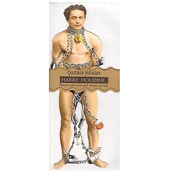 Brevpapper - Houdini - Kort och Klistermärke Blad Ny 0991