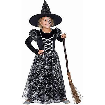 Spinnennetz Hexe Kinder Spinne Kostüm Zauberin Waldhexe Hexenkostüm