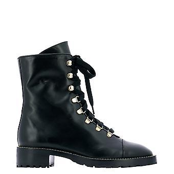 Stuart Weitzman Kolbiesmoblk Women's Black Leather Ankle Boots