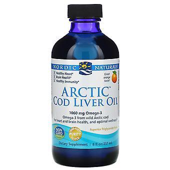 Nordic Naturals, Huile de foie de morue arctique, Orange, 8 fl oz (237 ml)