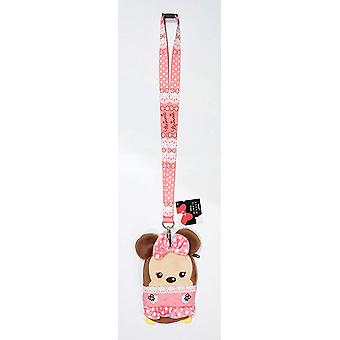 Lanyard - Disney - Minnie Mouse Pink w/Pouch