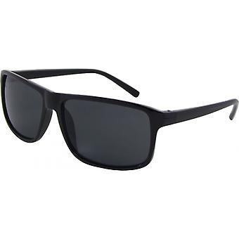 Sonnenbrille Unisex  Wayfarer Kat. 3 schwarz/grau (Basic 135-A)