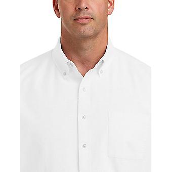 أساسيات الرجال & apos;ق كبيرة طويل القامة كبيرة وطويلة الأكمام طويلة جيب قميص أكسفورد S...