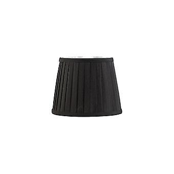 20 cm kangas kartiomainen lampunvarjostin musta