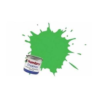 Humbrol Enamel Paint 14ML No 208 Fluor.Gl Signal Green
