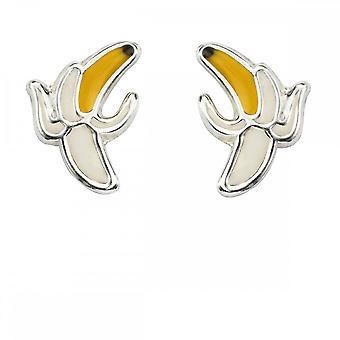 Begyndelser sterling sølv skrællet banan øreringe A2039