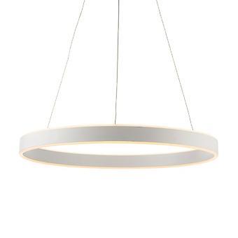 Endon Beleuchtung Gen - integrierte LED-Anhänger Matt weiß Farbe & Gefrostet Acryl 1 Licht dimmbar IP20