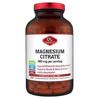 Olympian Labs Magnesium Citrate, 400 mg, 300 caps