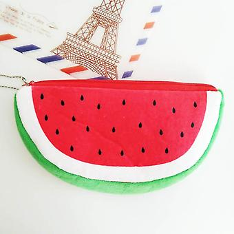 Cute Fruit Watermelon Cactus Plush Pencil Case, Cosmetic Bag