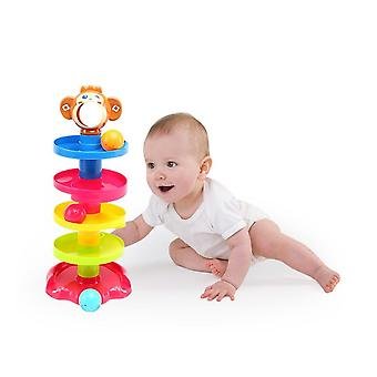 Baby Childern Tower Puzzle Rolling Ball Bell, Kids Developmental