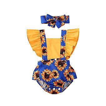 夏のファッション新生児の子供の赤ちゃんの衣装服毎日のボディスーツ花ロンパース