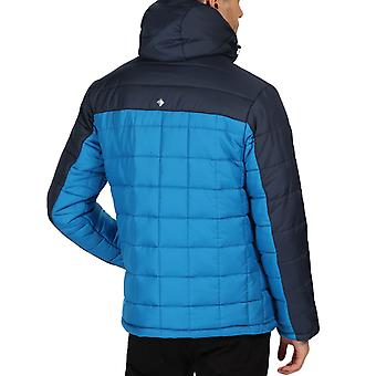 Regatta Mens Nevado IV Insulated Quilted Hooded Outdoor Walking Jacket - Blue