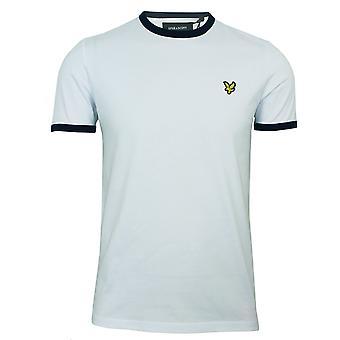 Lyle & scott miesten valkoinen ringer t-paita